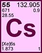 Periodic Table Element - Cesium