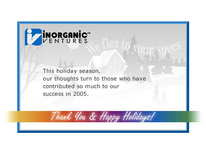 Holiday eCard 2005