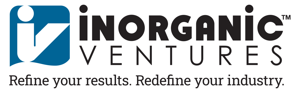 Inorganic Ventures logo with new tagline